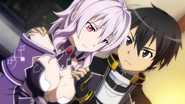Kirito comforts Strea