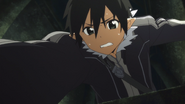 Kirito saving Leafa