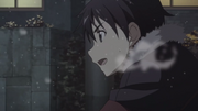 Kazuto heading towards the hospital