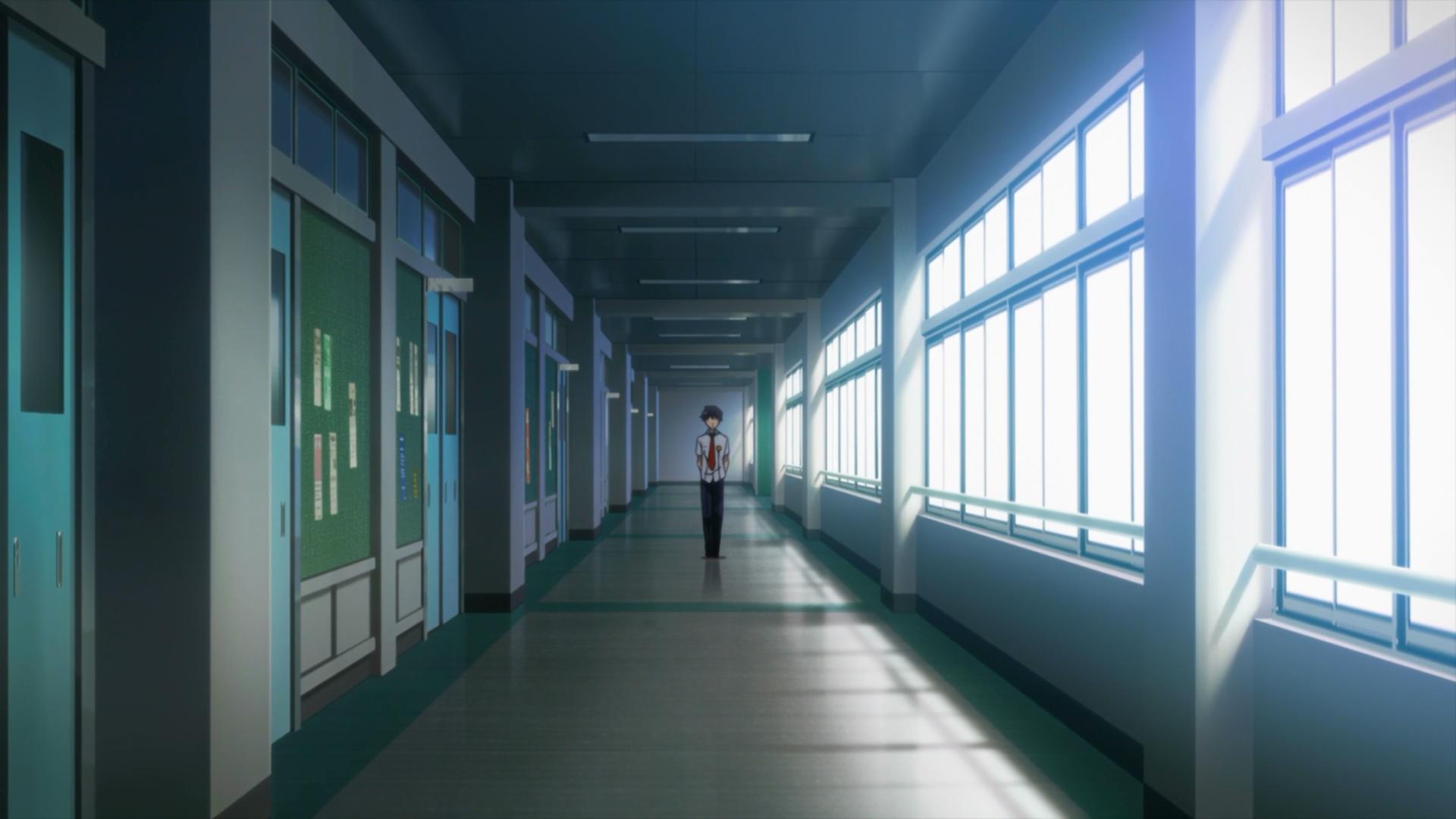 Image - SAO survivor school corridor.png | Sword Art ...