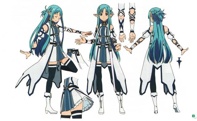 Manga Character Design Pdf : Image asuna design works ii coloured sword art