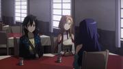 Asuna and Kirito meeting Yolko