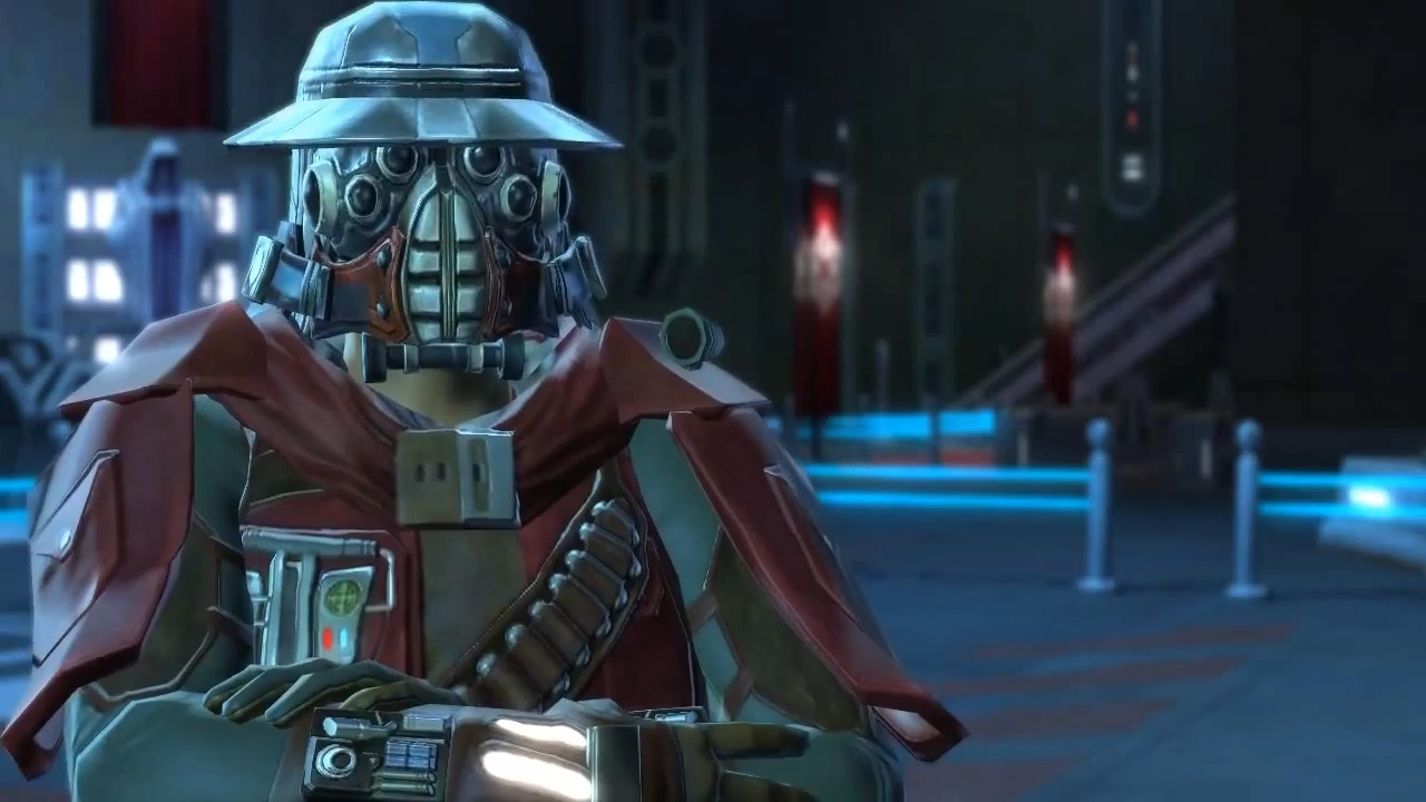 how to put on gear on jedi knight swtor