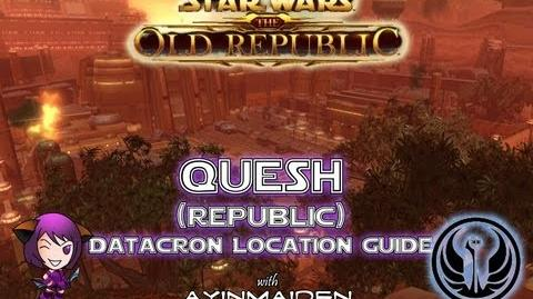 ★ SWTOR ★ - Datacron Location Guide - Quesh (Republic)