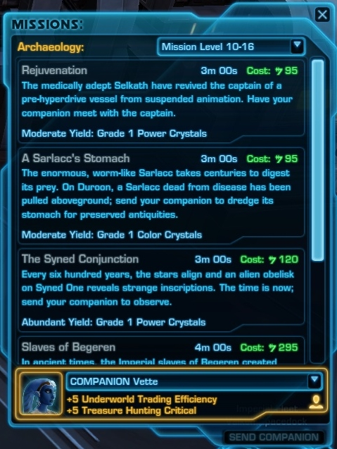 Archaeology missions | Star Wars: The Old Republic Wiki ...