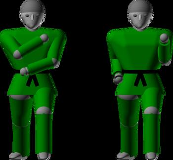 Inner forearm outward block chamber