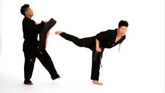 How to Do Back Kick & Jump Back Kick Taekwondo Training