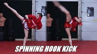 Taekwondo Spin Hook Kick Tutorial for MMA & Kickboxing 60fps