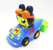 Mametchi racecar happy meal toy