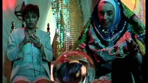 Tegan visits fortune teller - Doctor Who Snakedance - BBC