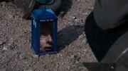Twelfth Doctor in the shrunken TARDIS