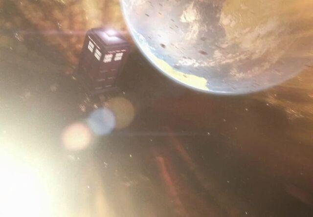File:TARDIS solar tsunami The Rebel Flesh.jpg