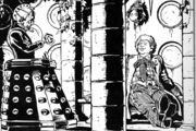 Sixth Doctor Davros in TARDIS Up Above the Gods