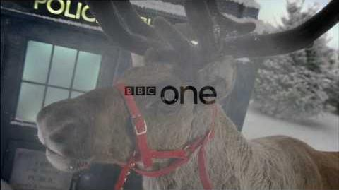 BBC One Christmas Sting Ident 2009 Reindeer and TARDIS