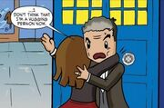 Clara hugging Doctor