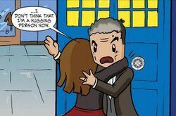 Clara hugging Doctor