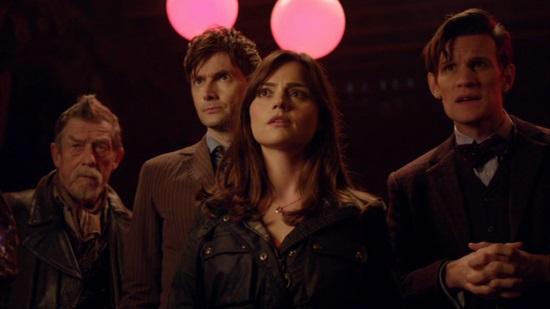 File:Three Doctors and Clara.jpg