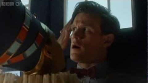 The Doctor and Nefertiti - Doctor Who Dinosaurs on a Spaceship teaser - Series 7 Episode 2 - BBC