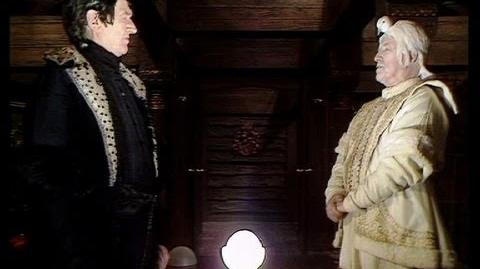 A meeting of Dark and Light - The Black and White Guardians meet - Doctor Who - Enlightenment - BBC