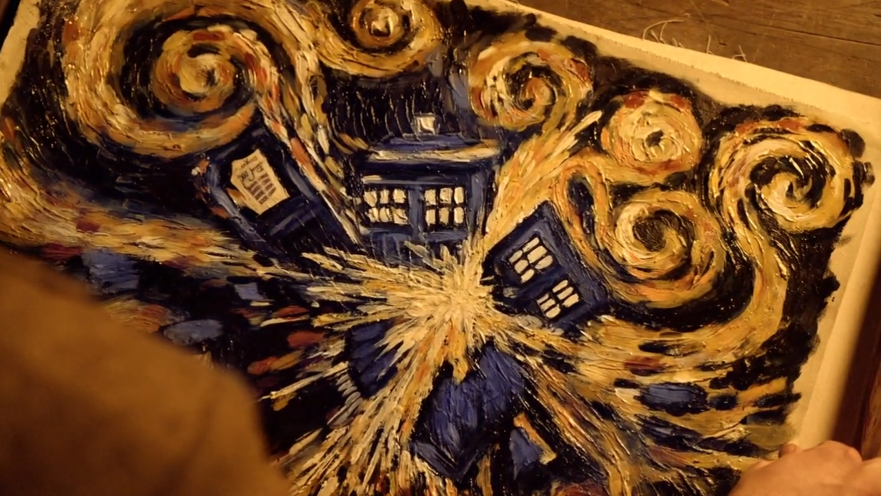 The Pandorica Opens  Vincent Van Gogh Doctor Who Sunflowers
