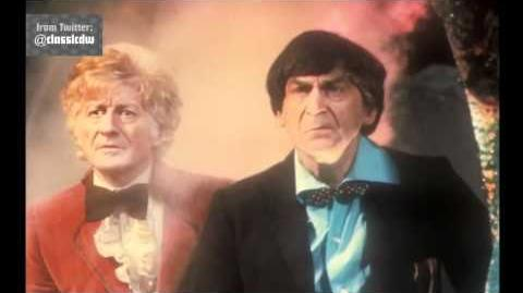 Exclusive First Look Pertwee and Troughton - Doctor Who The Three Doctors - BBC