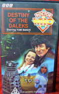 Destiny of the Daleks VHS Australian cover