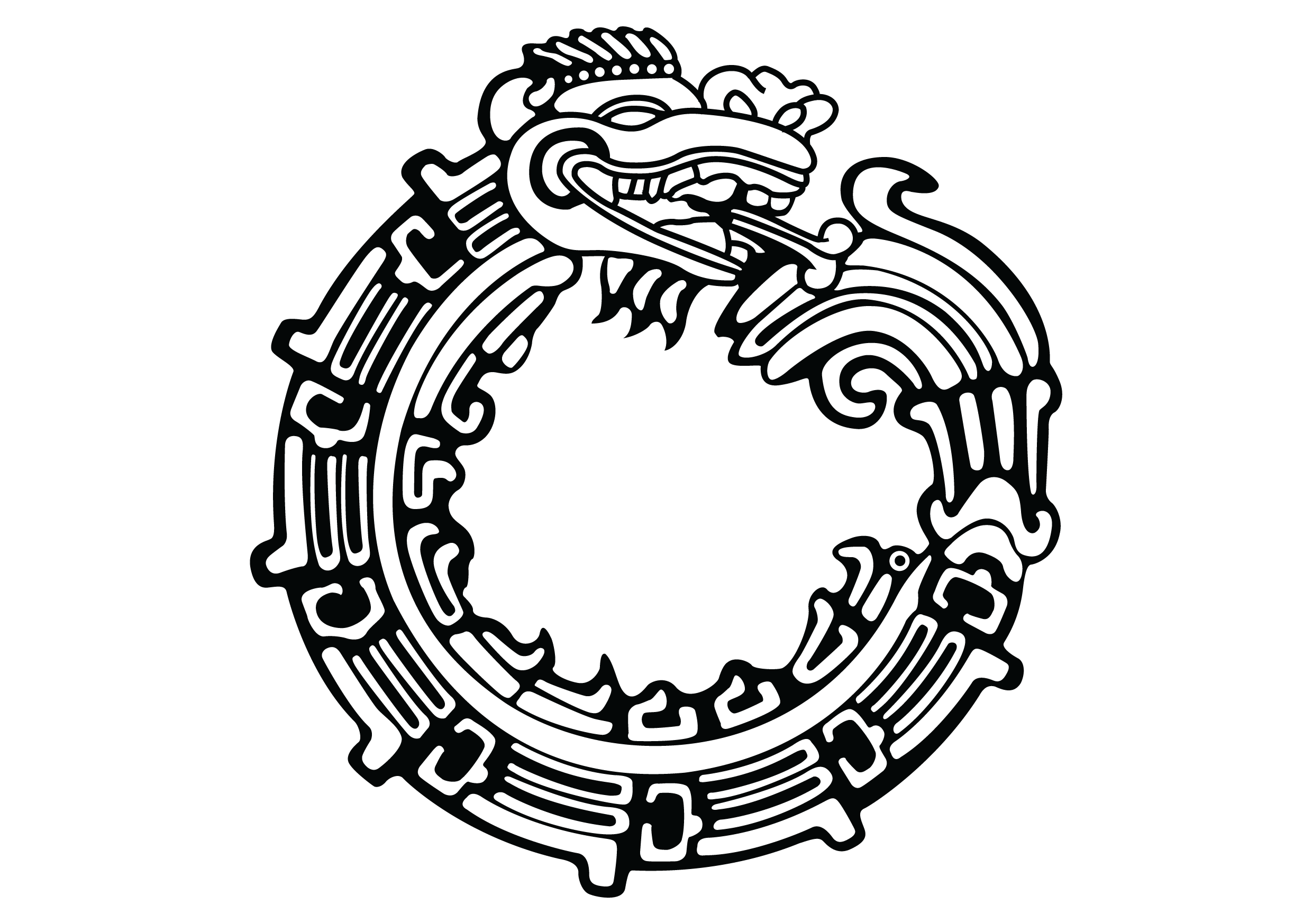 Aztec Serpent Drawings File:aztec Serpent Tattoo by