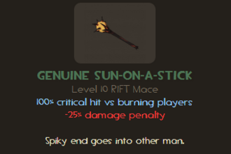 Sun-On-A-Stick genuine info TF2