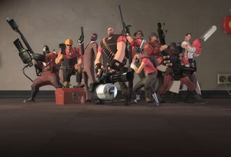 All the classes group photo TF2