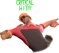Critical hit on Engineer TF2