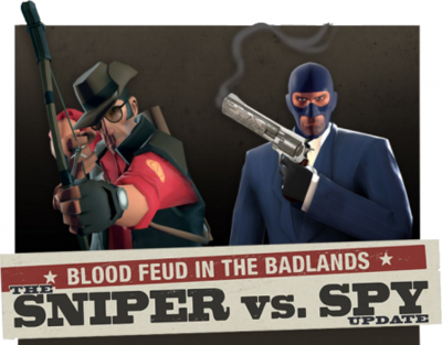 Sniper vs Spy Update banner TF2