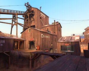 Dustbowl outside the RED control point TF2
