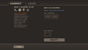 Crafting screen TF2
