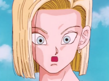 Android 18 sees the detonator