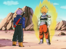 Super Saiyan Goku and Future Trunks
