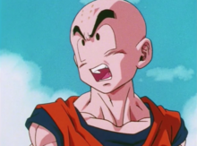 Krillin defending himself