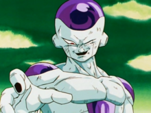 Freeza smiling after killing Krillin