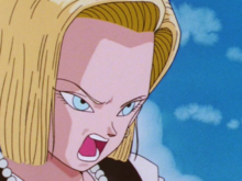 Android 18 yelling