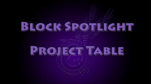 Block Spotlight - Project Table