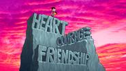 Friendship courage heart caramel apples