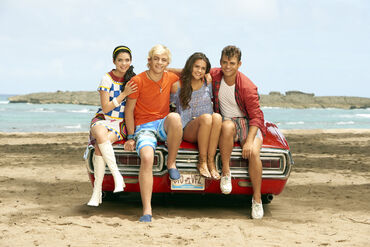Lela, Brady, Mack and Tanner Teen Beach 2 Promotional Picture