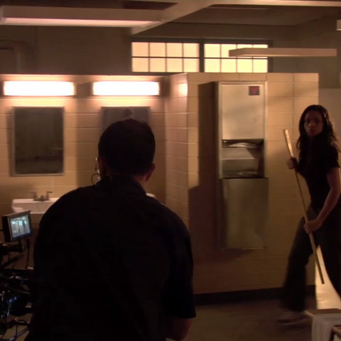 Teen Wolf Behind the Scenes Meagan Tandy Locker Room Set Northridge Sound Stage