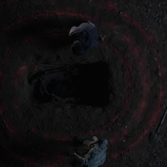 The spiral around Laura Hale's grave
