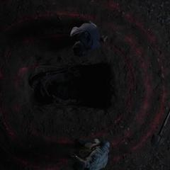 The spiral around Laura Hale's grave