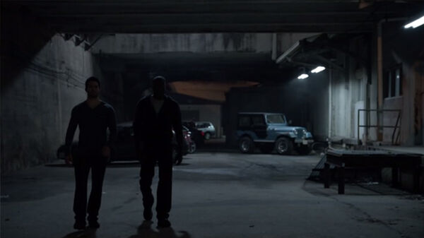 Teen Wolf Season 2 Episode 8 Raving Derek and Boyd outside the rave