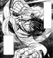 Akari using his string