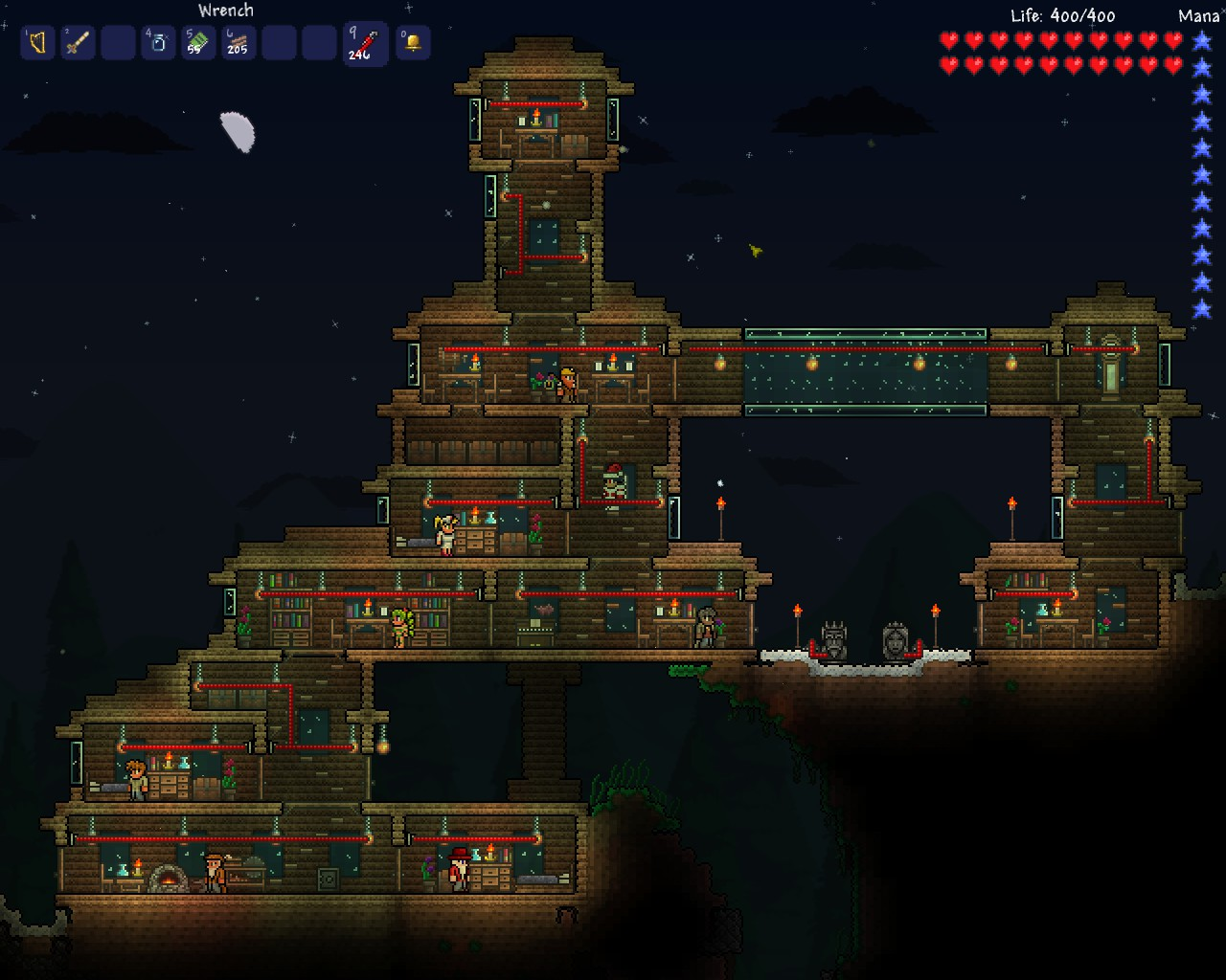 how to get to the merchant on terraria