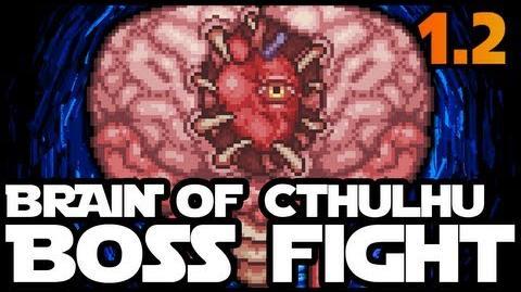 Full Boss Fight, Brain of Cthulhu, Terraria 1 2, The Crimson, Bloody Spine, Crimtane Ore,