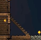 Terraira wooden platform stairs