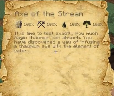 Axe of the steam